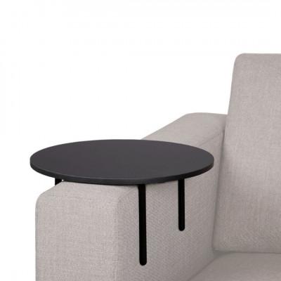Apvalus staliukas ant sofos...