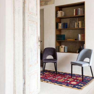 Kėdė Oto švesiai mėlyna