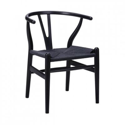 Kėdė Wishbone Juoda