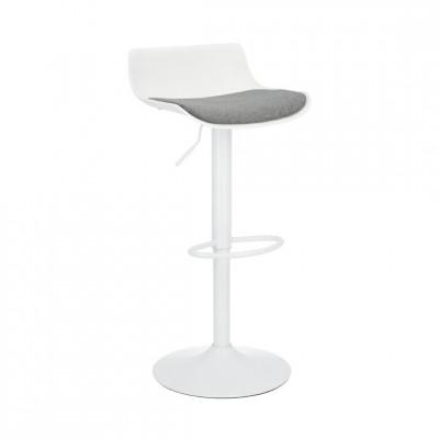 Baro kėdė SIMPLET FABRIC Balta