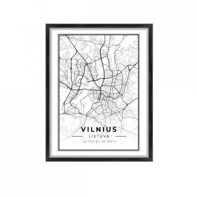 Miesto žemėlapis Vilnius