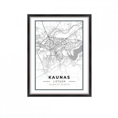 Miesto žemėlapis Kaunas