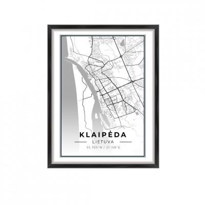 Miesto žemėlapis Klaipėda
