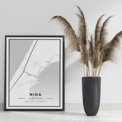 Miesto žemėlapis Nida