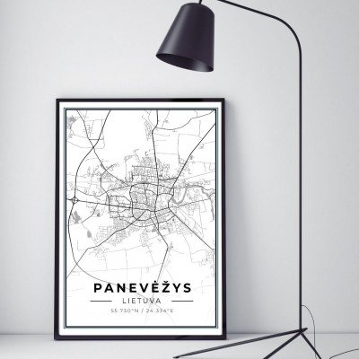 Miesto žemėlapis Panevėžys