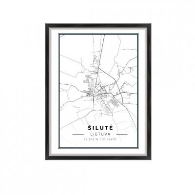 Miesto žemėlapis Šilutė