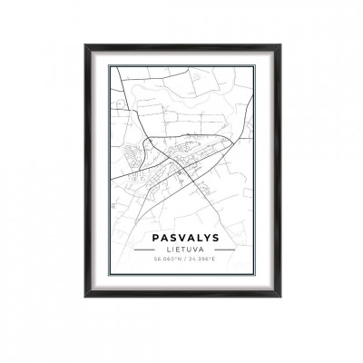 Miesto žemėlapis Pasvalys