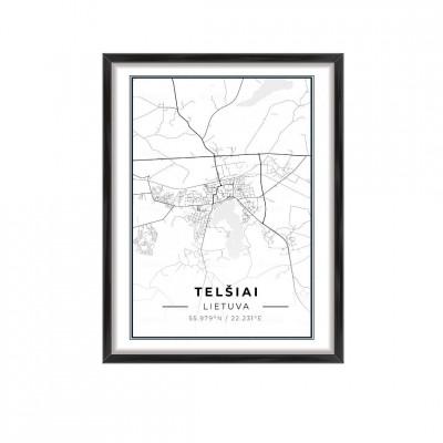 Miesto žemėlapis Telšiai