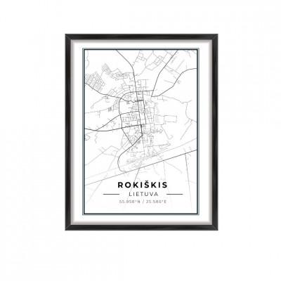 Miesto žemėlapis Rokiškis