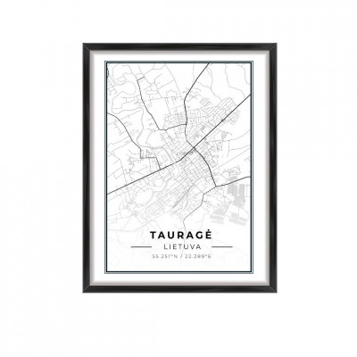 Miesto žemėlapis Tauragė