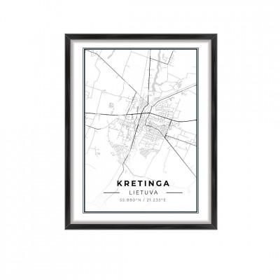 Miesto žemėlapis Kretinga
